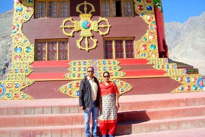 diskit monastery near leh