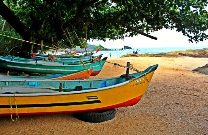 Boat Beach Gokarna India