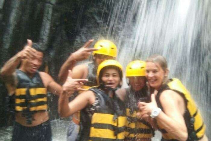 nirav & wife in bali during river rafting