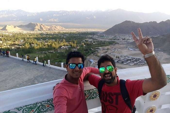 ninad friend before ladakh landscapes