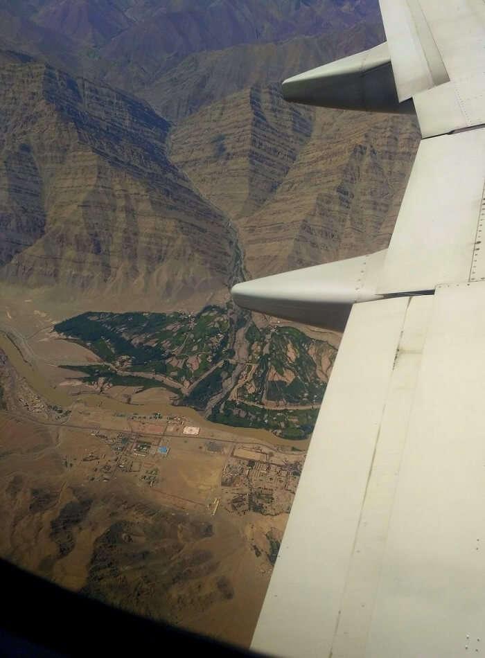 ninad ladakh views from flight
