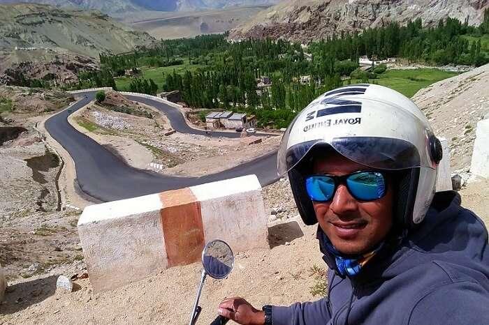 ninad selfie road trip ladakh