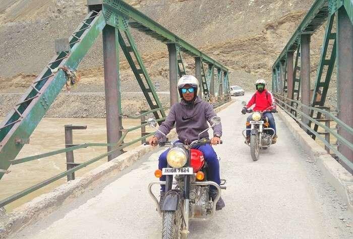 ninad ladakh bridge bike ride