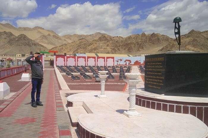 ninad on a visit to war memorial