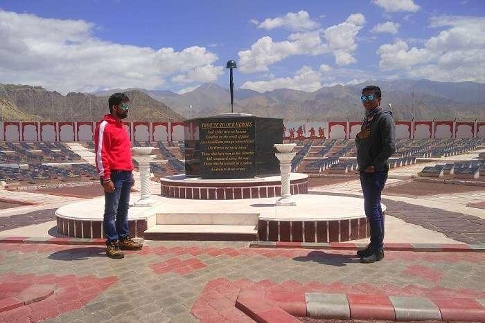 ninad at drass war memorial in ladakh