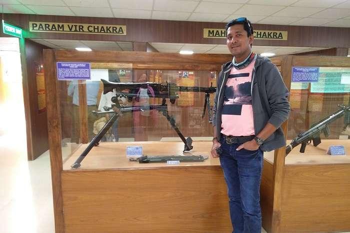 ninad at war museum in ladakh
