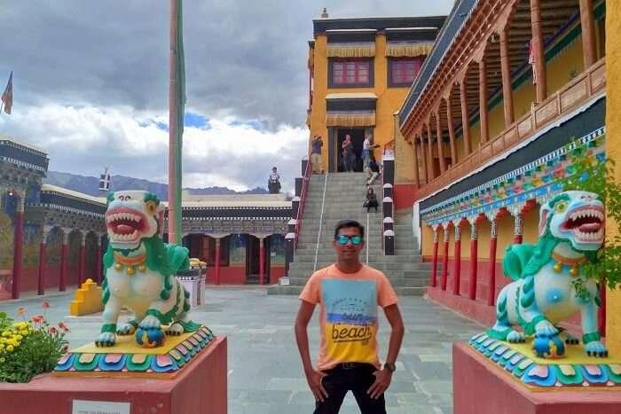 ninad at hemis monastery