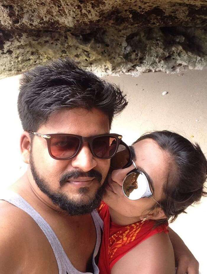 nirav and wife enjoying time at beach in bali