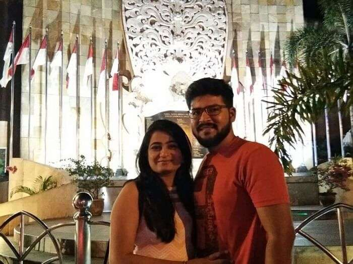 nirav & his wife enjoying bali trip