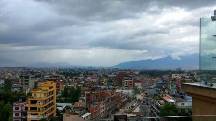 view of kathmandu from hotel that narayan stayed in on his nepal holiday
