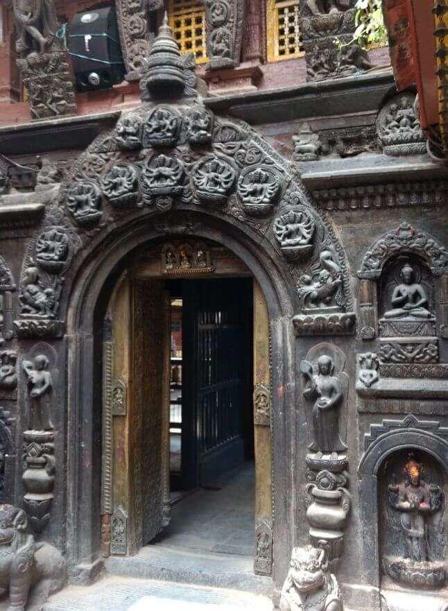 narayan visiting hindu temple in nepal