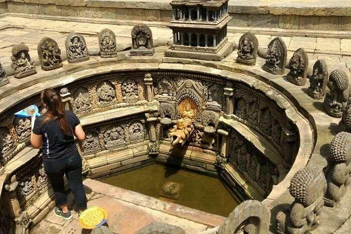 narayan at the interiors of hindu temple in nepal