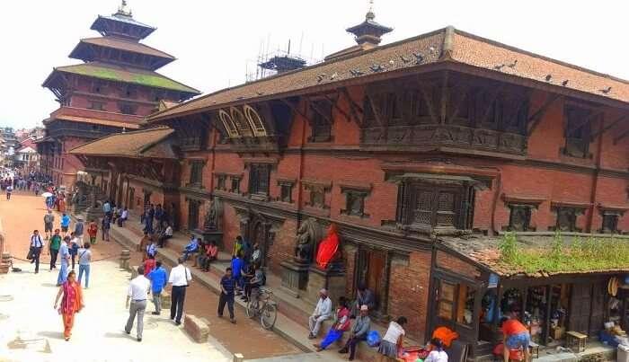 narayan shopping at local market in nepal