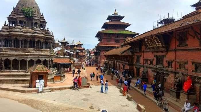 narayan shopping in nepal at local market
