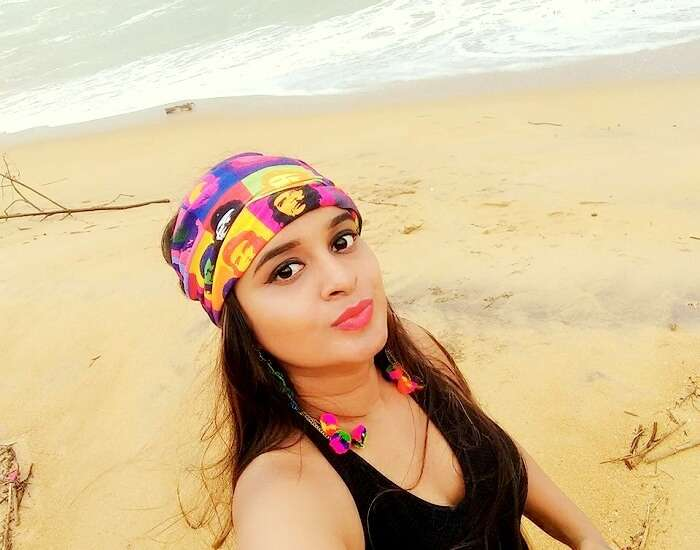 selfie time at kalutara beach