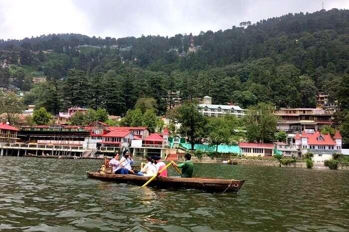 boating in Naini Lake