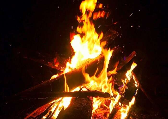 bonfire in Ranikhet