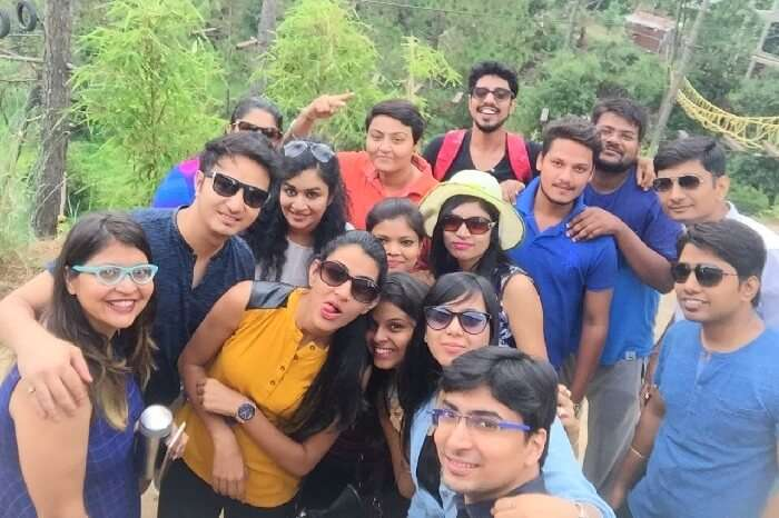 group selfie in Ranikhet