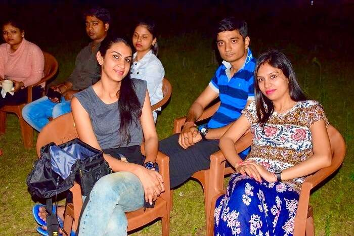 an evening with friends in Ranikhet