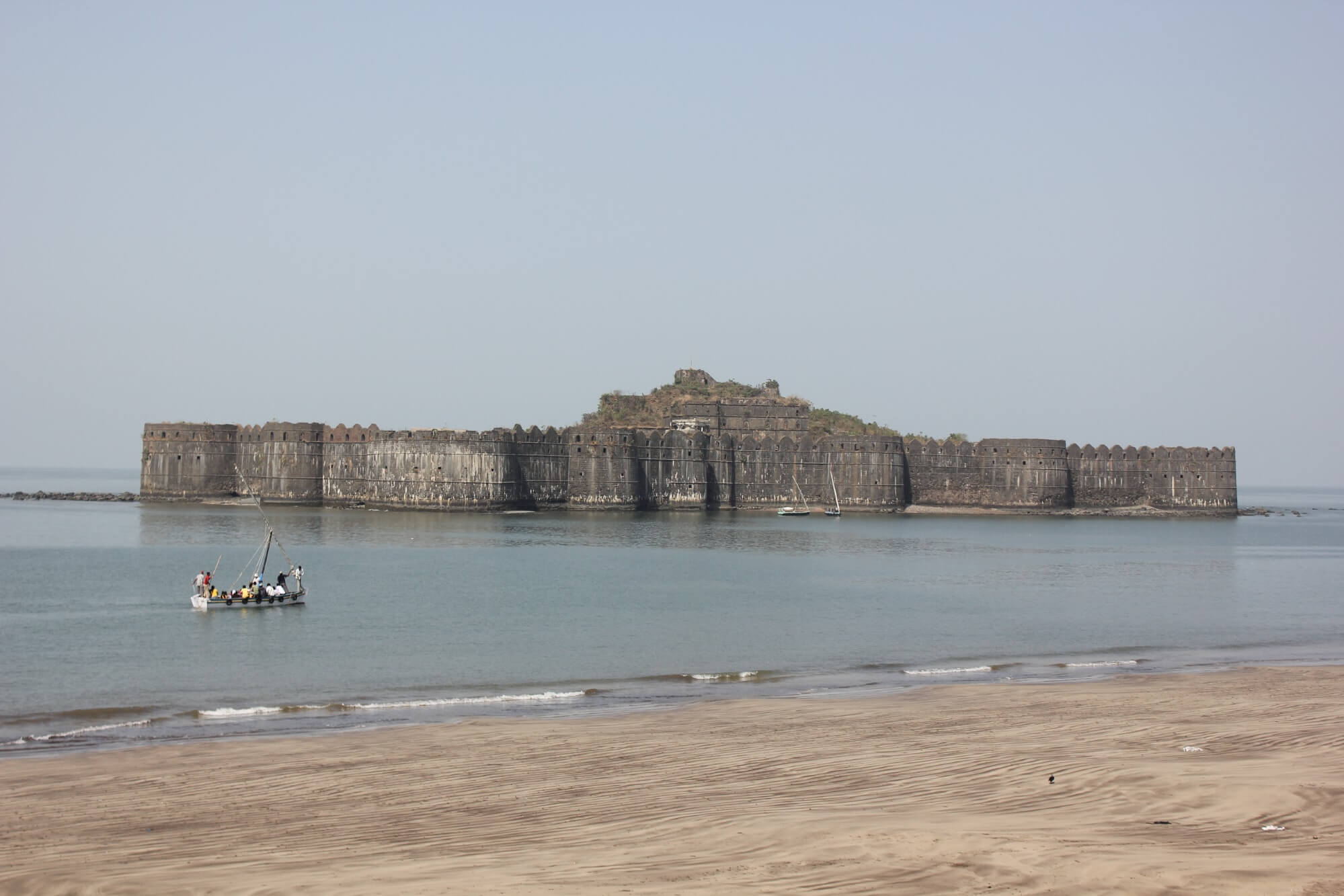 an old fort amid sea