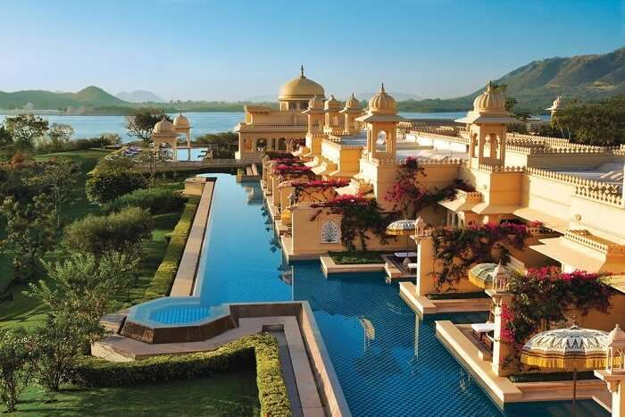 stay at the ultra opulent Oberoi Udaivilas