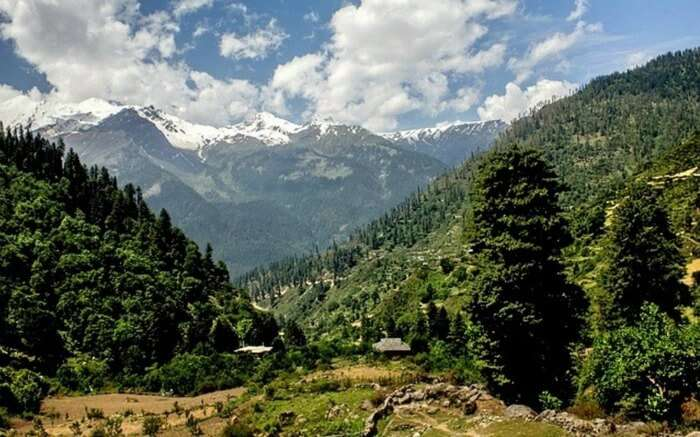 The beautiful nature view in Buddhaban in Himachal