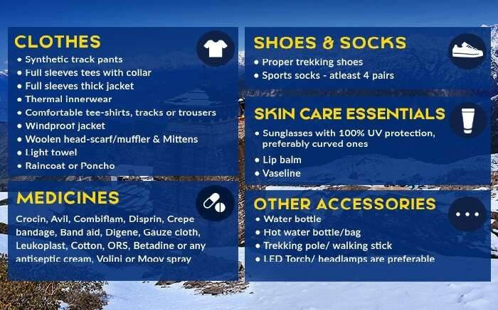Things to pack while going for the Chandrashila Trek