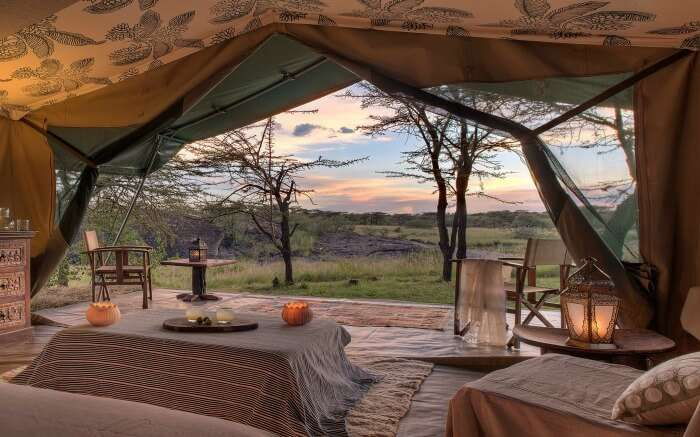 View from inside the Richard's River Camp in Kenya