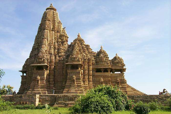 a stunning temple in khajuraho