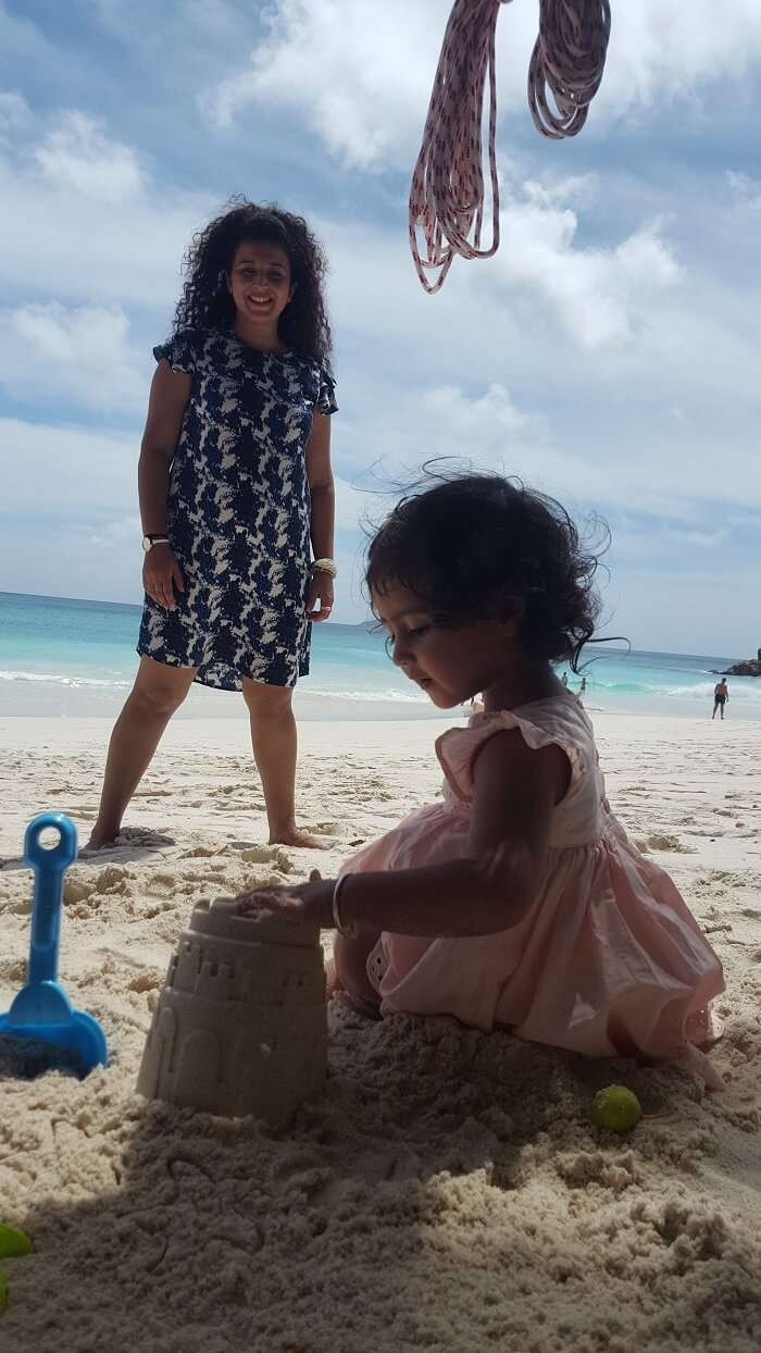 family trip to anse georgette beach