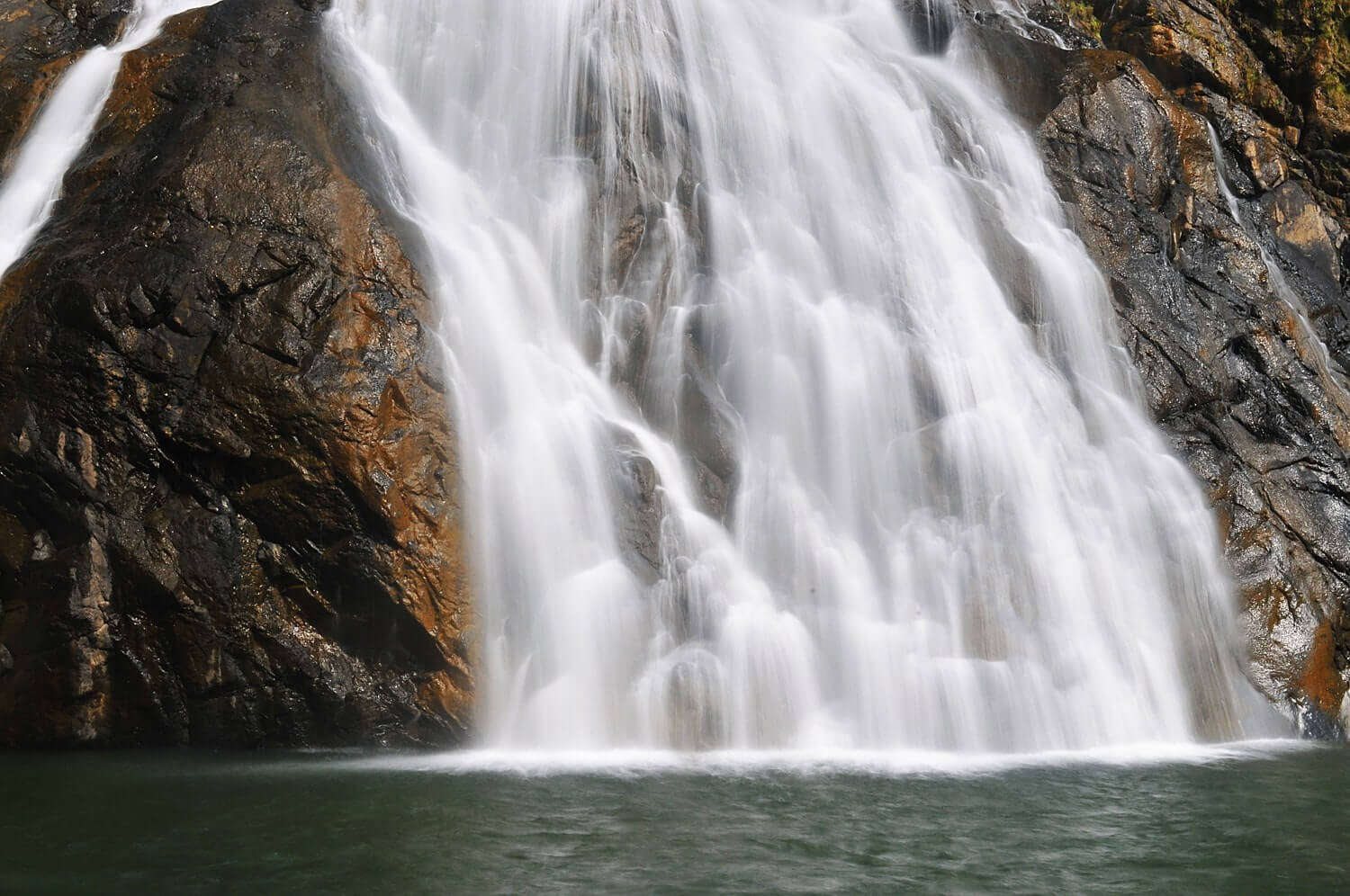 a beautiful waterfall in Goa
