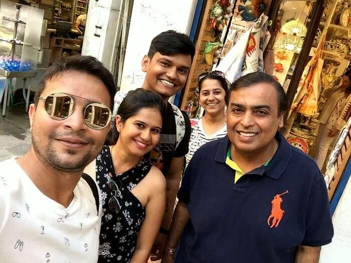 meeting mukesh ambani in venice