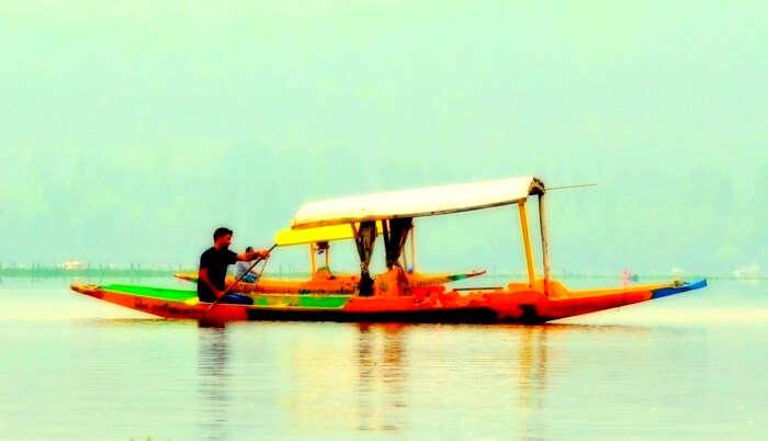 dal lake boating