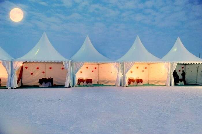 couples can camp on the arid desert of Kutch on new year