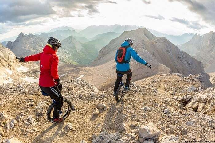 mountain unicycling adventure sports