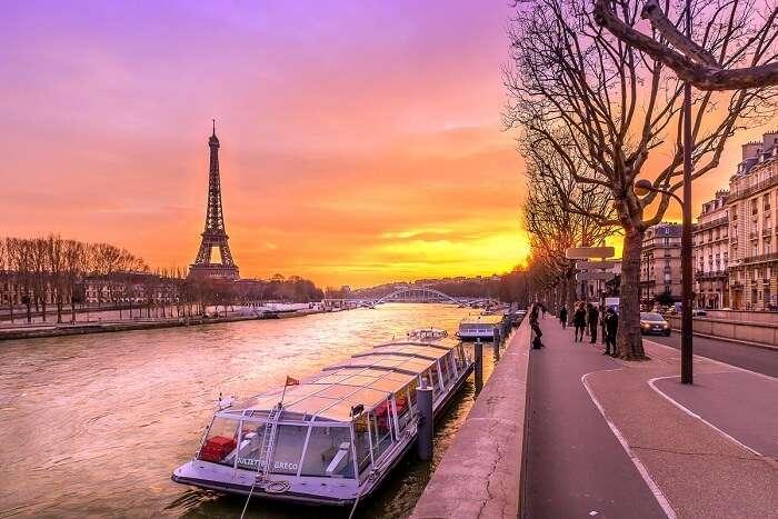 sail on a romantic seine river cruise