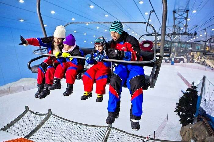 ski dubai for families
