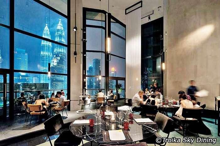 Troika Sky Dining in Kuala Lumpur