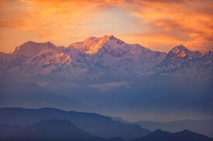 Tiger Hill view in Darjeeling