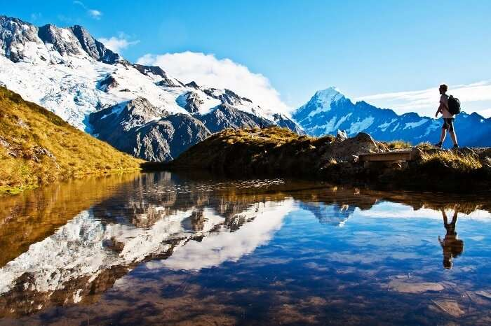 Hiking to Mount Cook