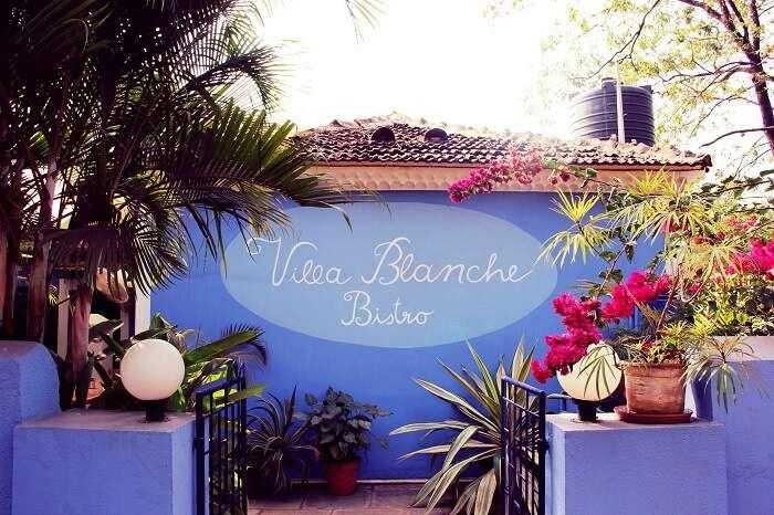 Villa Blanche Bistro, Vagator Goa