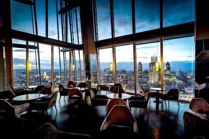 Aqua Shard Restaurant in London