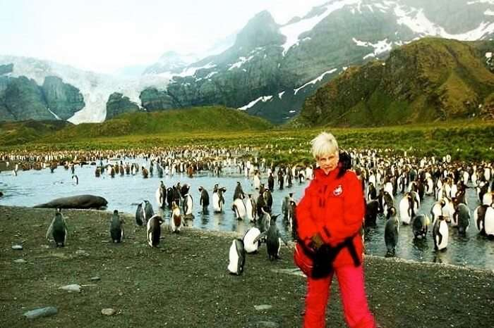 June Scott in Antarctica