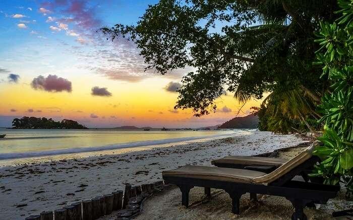 Anse Volbert Beach in Praslin Island