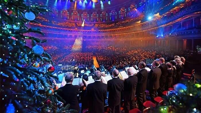 Christmas Carol Singing at Royal Albert Hall, London