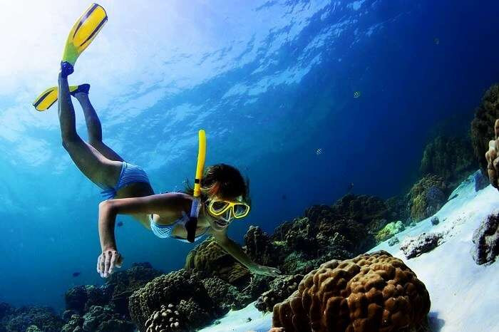 Snorkeling in Maldives