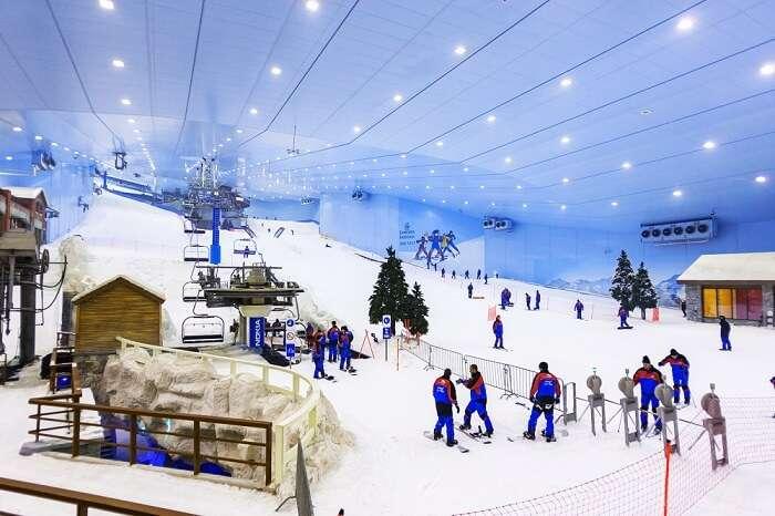Skiing at Ski Dubai