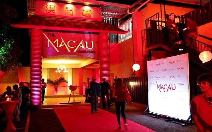 A bar at night in macau