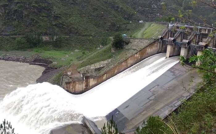 A dam in mountain