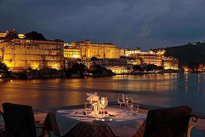 dine at Ambrai - Amet Haveli in udaipur